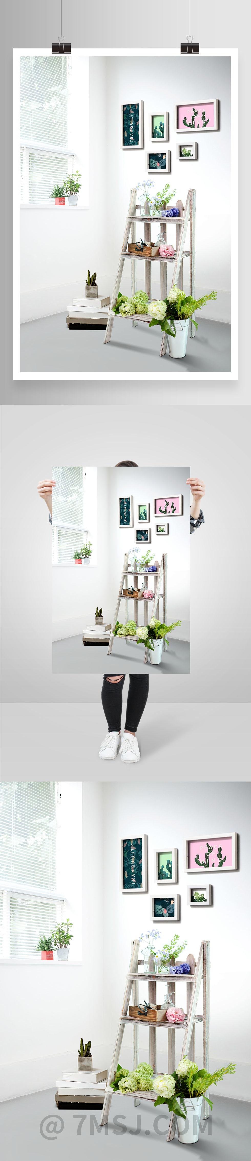 简约时尚家居装饰海报设计素材 #Fashion Home Decoration