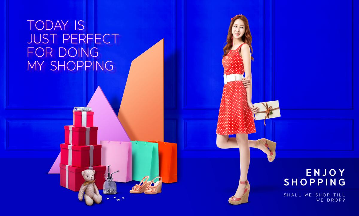 时尚购物女性简约海报女装女鞋促销