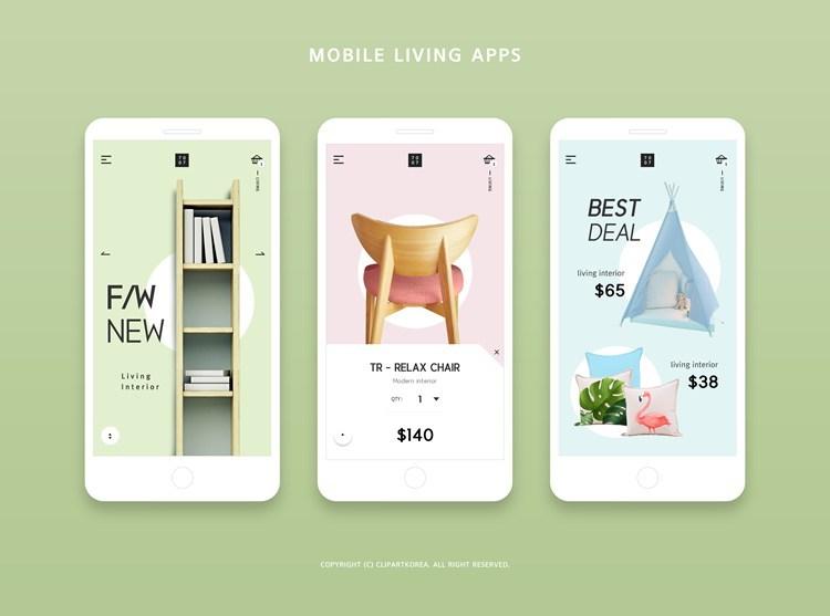 创意时尚手机界面APP设计源文件psd45