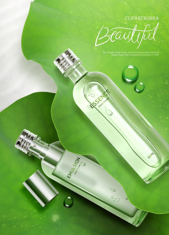 绿色清新美白补水芦荟柔肤水海报