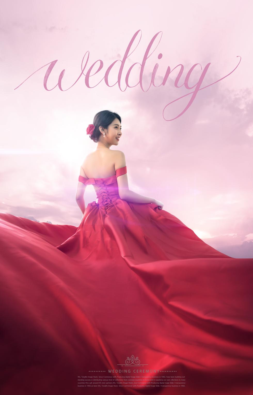 红色大气婚纱摄影公司产品促销宣传海报