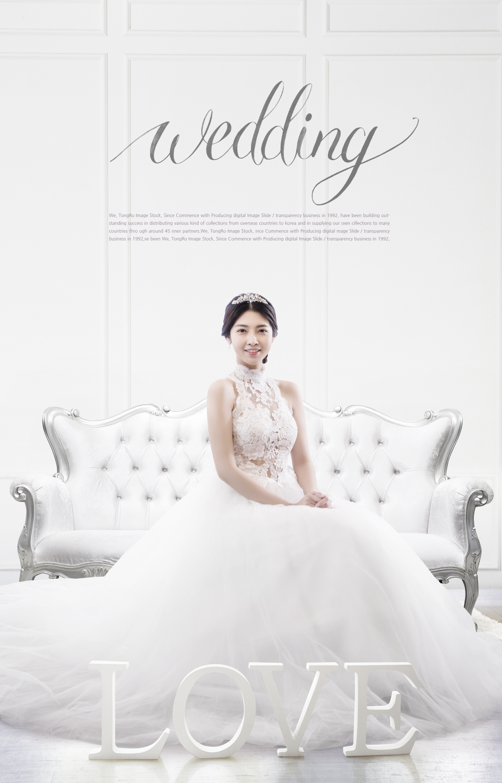 白色简约高端婚纱摄影推广海报psd
