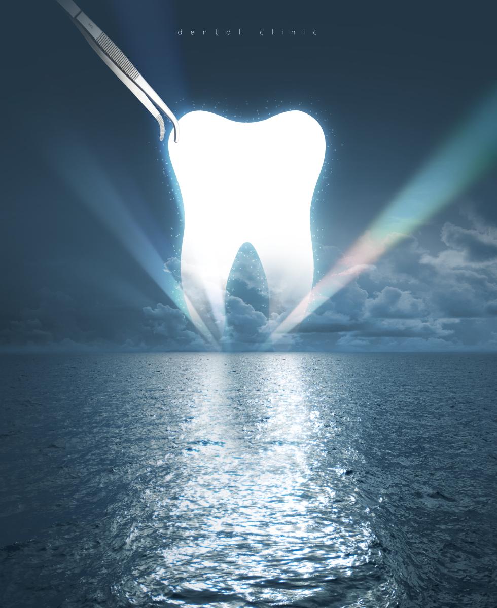 牙齿美容整形医院海报