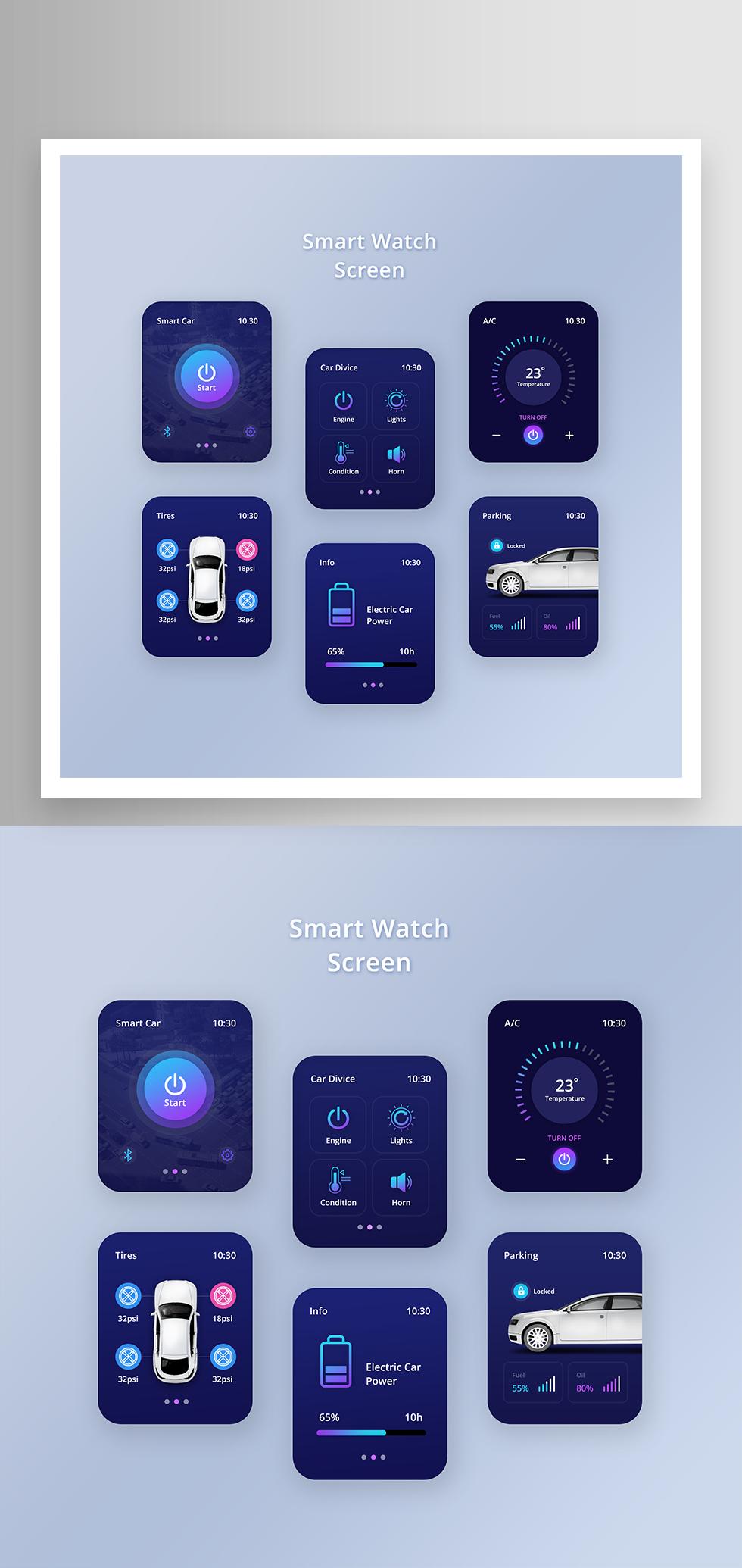 简约智能手表UI界面设计素材15
