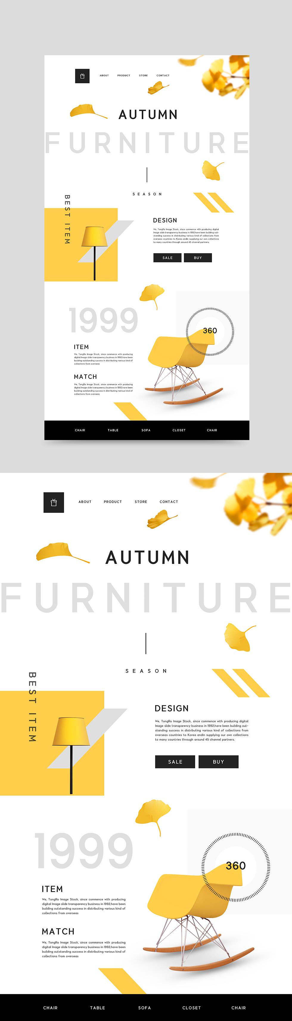 白色简约欧美风格响应式web网页设计模板psd分层